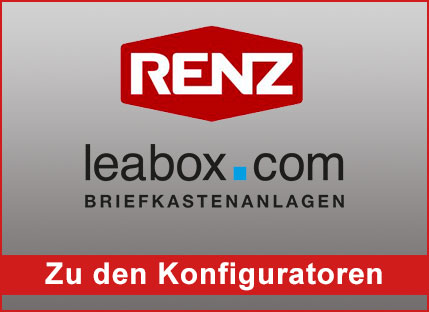 Briefkastenanlage kaufen, Renz Briefkasten Konfigurator online
